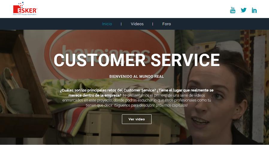 Esker Ibérica crea una web dedicada a profesionales del Servicio al Cliente